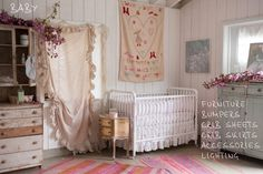 Rachel Ashwell Shabby Chic Couture® Baby Collection of Cribs, Changing Tables, Baby Bedding, Baby Bibs and accessories.