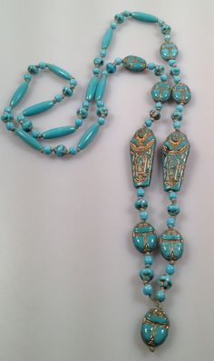 NEIGER Brothers MUMMY Bead Necklace Art Deco by thepopularjewelry, $249.00Loved it :)