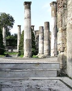 House of Pansa - peristyle garden