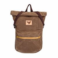 BUB waxed cotton canvas in Field Tan color Blind Chic.