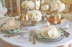 french vintage wedding tabletop ~ Marie Antoinette inspired