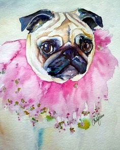 Jester Pug Painting by Christy Freeman - Jester Pug Fine Art Prints and Posters for Sale