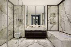 Chelsea TownhouseChelsea | Finchatton Master bathroom--like cararra marble