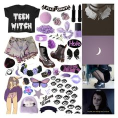 """""""i wanna be a witch"""" by seeroflight ❤ liked on Polyvore featuring mark., Dr. Martens, Blume, Miss Selfridge, NARS Cosmetics, Topshop and Benefit"""