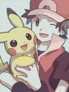 Pokemon Red and Pikachu