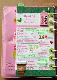 She's Eclectic: My week in my Filofax #28 - close up