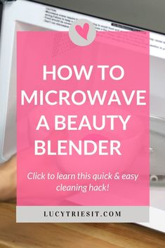 If you're wondering how to clean your beauty blender really well, then this post is for you. Washing your makeup sponge is pretty easy, but did you know there is a way to disinfect it using a microwave? Yup, this is one of those beauty blender hacks you have to try! Click to learn exactly what you need to do to kill that pesky bacteria residing on your sponge! #beautyblender #makeuptips