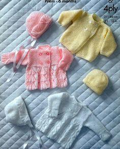 BABY KNITTING PATTERN Baby Bebe Prem sizes to 6 by carolrosa