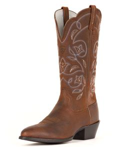 Ariat Women's Heritage Western R Toe Boot - Brown Oiled Rowdy  http://www.countryoutfitter.com/products/27879-womens-heritage-western-r-toe-boot-brown-oiled-rowdy #westernboots
