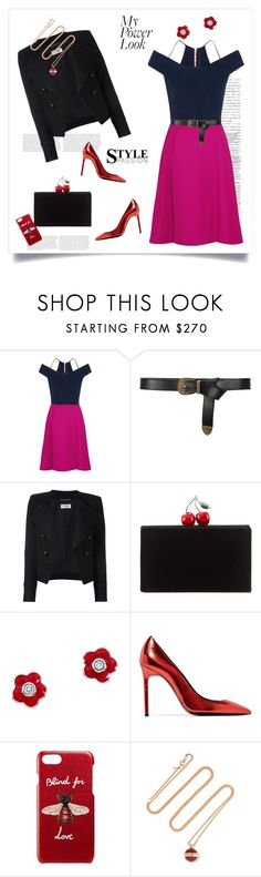 """What's Your Power Look?♥♥♥"" by marthalux ❤ liked on Polyvore featuring Roland Mouret, Alberta Ferretti, Yves Saint Laurent, Edie Parker, Aaron Basha, Gucci, Piaget, WHAT and powerlook"