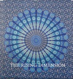The Rising Dimensions King Mandala Blue Tapestry Wall Hanging Indian Mandala Tapestry Throw Living Room Tapestry Bedspread Decorative Wall Hanging Picnic Beach Sheet Room Tapestry, Blue Tapestry, Mandala Tapestry, Tapestry Wall Hanging, Tapestries, Indian Mandala, Bedspread, Picnic, Outdoor Blanket