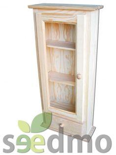 VITRINA DE COLGAR CON 1 PUERTA Y 1 CAJON #lowcost Tu tienda Online. Bathroom Medicine Cabinet, Ideas, Salvaged Furniture, Cabinets, Bathroom Sinks, Drawers, Closets, Thoughts