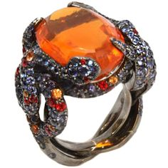 1STDIBS.COM Jewelry & Watches - LORENZ BAUMER Fire Opal Sapphire and... ❤ liked on Polyvore #opalsaustralia