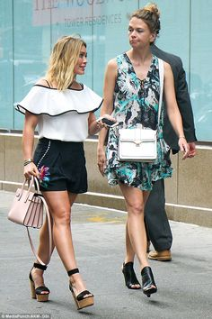 Two of a kind!Hilary was joined by her co-star Sutton Foster, who looked chic yet trendy ...