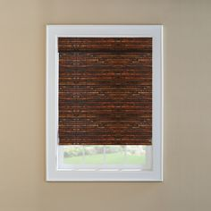 @ Lowes - Levolor Mahogany Light Filtering Woven Wood Natural Roman Shade (Common: 24-in; Actual: 23.5-in x 60-in)