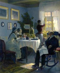 Carl Thomsen (Danish painter) 1847 - 1912 En Søndag Eftermiddag (A Sunday Afternoon), 1888 Tea Art, Reproduction, Oeuvre D'art, Art World, Les Oeuvres, Tea Time, Giclee Print, The Past, Sunday