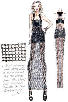 Figurinos by Versace Atelier para Beyoncé