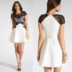 vestido preto e branco renda - Pesquisa Google