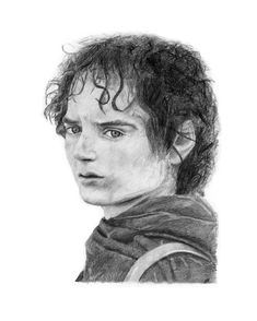 ORIGINAL FRODO Lord of the Rings pencil drawing by Cultscenes on Etsy