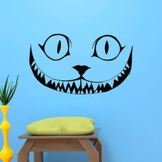 Cheshire Cat Smile Wall Decal Alice In Wonderland Wall Decals Vinyl Stickers Kids Room Baby Nursery Bedroom Dorm Wall Art Home Decor  Approximate