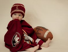 Customized Football Beanie by TwoLoopyHookers on Etsy