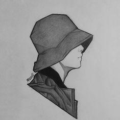 Kpop Drawings, Dark Art Drawings, Art Drawings Sketches Simple, Pencil Art Drawings, Foto Baby, Jungkook Fanart, Anime Sketch, Art Sketchbook, Doodle Art