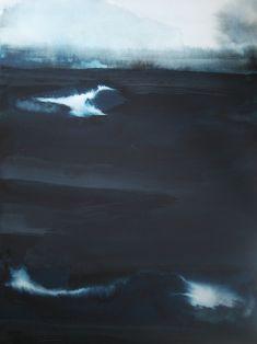 """Saatchi Online Artist: Koen Lybaert; Watercolor 2013 Painting """"Sea of Okhotsk"""""""