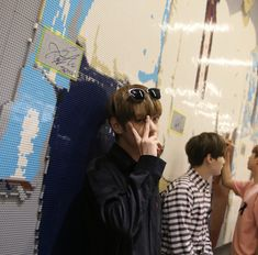 Image may contain: one or more people Namjoon, Kim Taehyung, Taekook, Bts Bangtan Boy, Jimin, Hipster, K Idol, The Villain, Bts Members