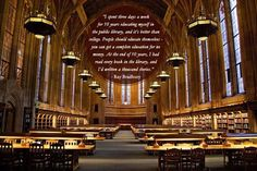 Community Post: 28 Beautiful Quotes About Libraries: Suzzalo Library at the University of Washington