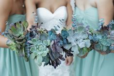 Love this idea....Truly Succulent Wedding Bouquets