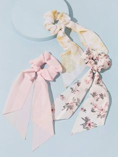 3pcs Ditsy Floral & Tie Dye Pattern Scrunchie Scarf | SHEIN South Africa Ditsy Floral, Floral Tie, Tie And Dye, Tie Dye Patterns, Scarf Hairstyles, Hair Ties, Scrunchies, Free Gifts, Hair Accessories