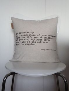 Great idea to make daily sayings onto pillows