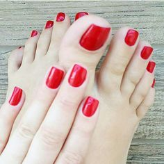 toenails designs and care in 2019 педикюр, Nice Toes, Pretty Toes, Red Pedicure, Toe Polish, Painted Toes, Use E Abuse, Feet Nails, Toenails, Beautiful Toes