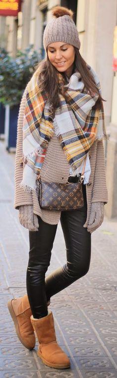 LoLus Fashion: Orange Multi Plaid Scarf