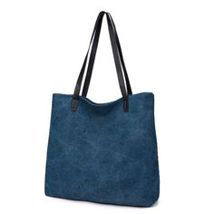 Topforcity(TM) Casual Canvas Handbag Shoulder Bag Shopping Bag - Blue. Outer Material: Canvas. bag Size: Approx 14.5*4.7*14.1 inch (L*W*H). Tank bag Size:Approx 12.5*3.5*10.2 inch (L*W*H). Inner Pockets: 4. This stylish sling bag offers storage for your tablet and other essentials for a day of traveling or a trek through the urban jungle.