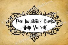 Harry Potter Free Invisibility Cloaks Instant by BookHangover Harry Potter Monopoly, Harry Potter Free, Harry Potter Classroom, Harry Potter Decor, Monopoly Game, Harry Potter Halloween, Harry Potter Birthday, Invisibility Cloak, Geek Party