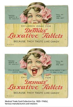 vintage medicine ad....Funny how laxatives make you feel and act after used lol