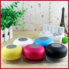 8794bc85cdb Small Speakers Big Sound Free Dhl New Portable Waterproof Wireless  Bluetooth Speaker Shower Car Handsfree Receive Call   Music Suction Phone  Mic Promotion ...