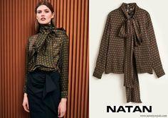NATAN Narel printed viscose top