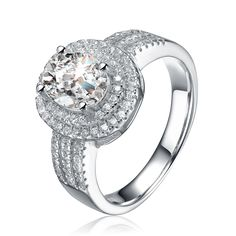 Collette Z Sterling Silver Cubic Zirconia Oval Ring
