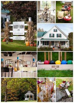 Fall at Hardy Farm is lovely!  #barn #wedding #maine #rustic