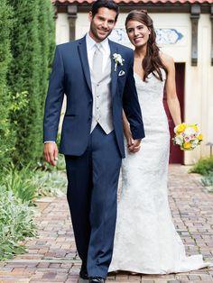 Cheap 2016 Custom Made Wear Navy Blue Suit Groom Tuxedos Grooms Men Mens Suits Traje de Novio Azul Men Wedding Suits (Jacket+Pants+Vest)