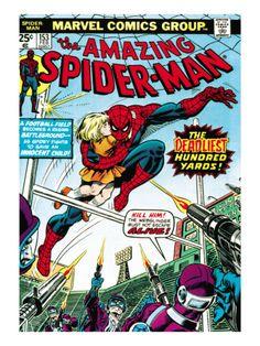 Spiderman Retro Comic Cover Art