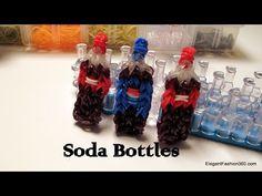 Soda Bottle Charm - How to Rainbow Loom -Food Series: Coca Cola and Pepsi - YouTube