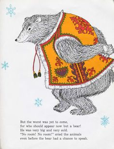 The Mitten (ukrainian folktale) by Alvin Tresselt, illustrated by Yaroslava, Scholastic Books, 1964.