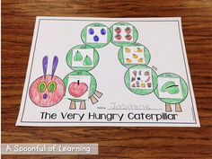 Insects Math and Literacy Activities and Crafts too! The Very Hungry Caterpillar Sequencing