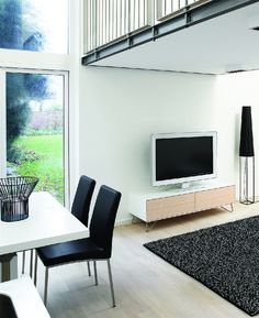 At BoConcept Sydney, our designer TV units are designed to support all TV types, whether you have a plasma, LCD or even a wall-mounted TV. Modern Wall Units, Tv Unit Design, Boconcept, Living Styles, Tv Cabinets, Scandinavian Design, Storage Spaces, Dining Bench, Tv Units