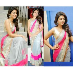 Bollywood Replica - Celebrity Shraddha Das In Shear Net Gray Designer Saree 1130