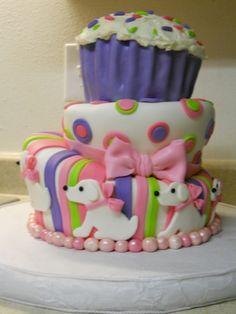 Polka Dots and Puppies cake