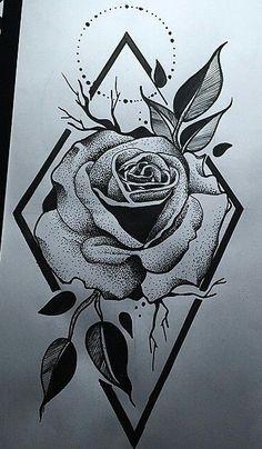 Easy Drawings, Tattoo Drawings, Pencil Drawings, Floral Tattoo Design, Tattoo Designs, Rose Tattoos, Tatoos, Drum Tattoo, Shoulder Tattoos For Women